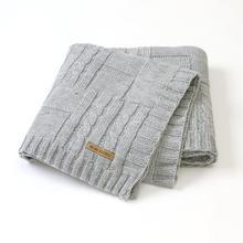 Baby Blankets Super Soft Newborn Infant Bebes Swaddle Wrap Blanket 100*80CM Solid Children Stroller Bedding Quilts Brand Knitted