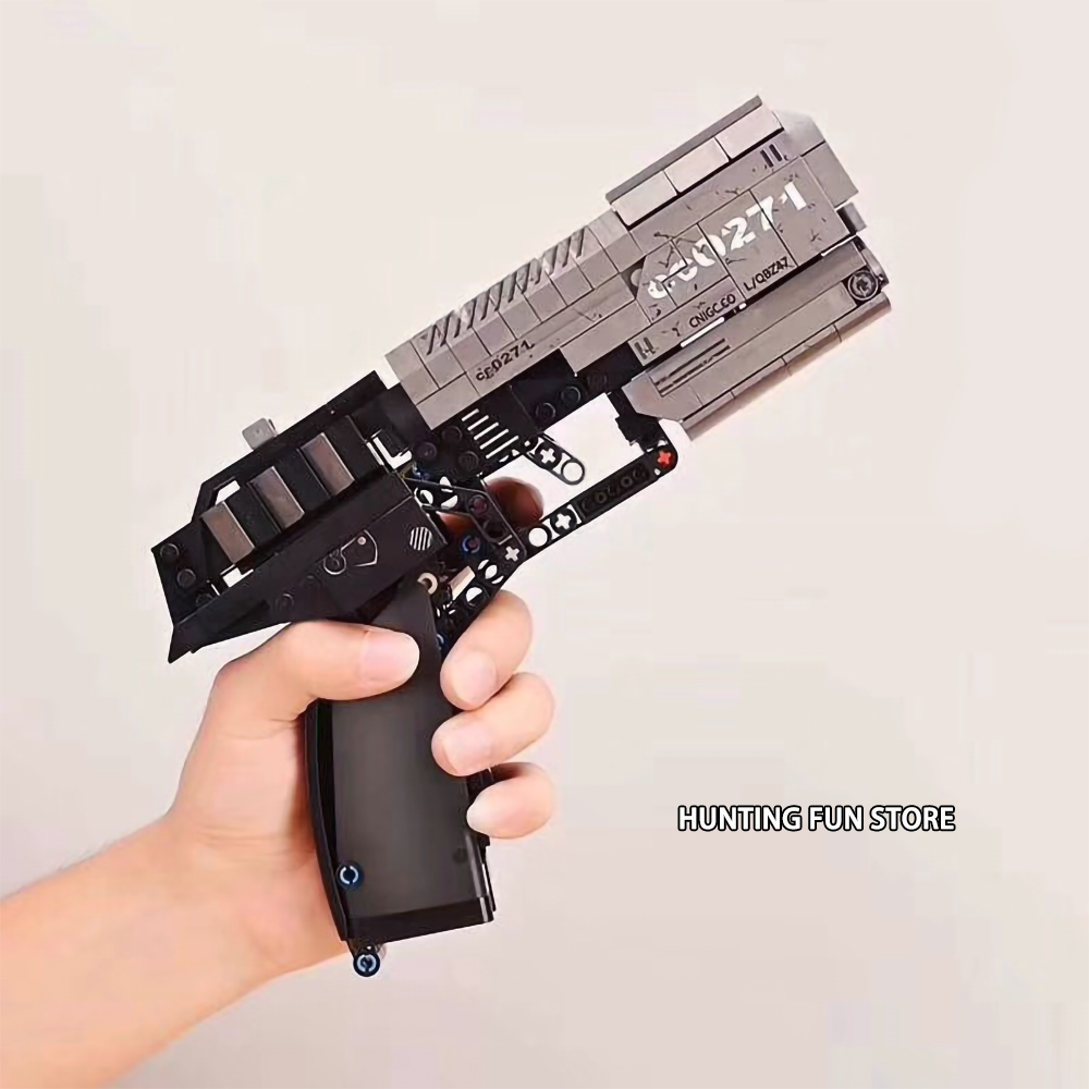 Compatible Technic Signal Gun Handgun Pistol Can Fire Bullets Set DIY Model Educational Building Blocks Toys For Kids Boys Gifts image