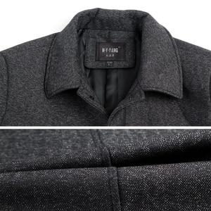 Image 4 - Mu Yuan Yang Wool Coat For Men Casual Woolen Coats Male Clothing Mens Jackets Single Breasted Overcoat 4XL Plus Size