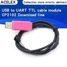 Cable USB a UART Original 1M CP2102 módulo TTL 4 pines 4 P adaptador de serie Módulo de Cable de descarga para Win10 para Arduino Raspberry Pi