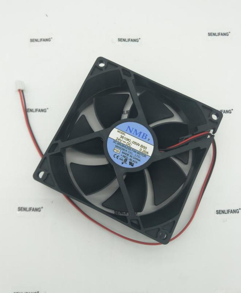 For Original  9025 24V 0.20A 3610KL-05W-B50 90*90*25MM 2-wire Inverter Fan Free Shipping