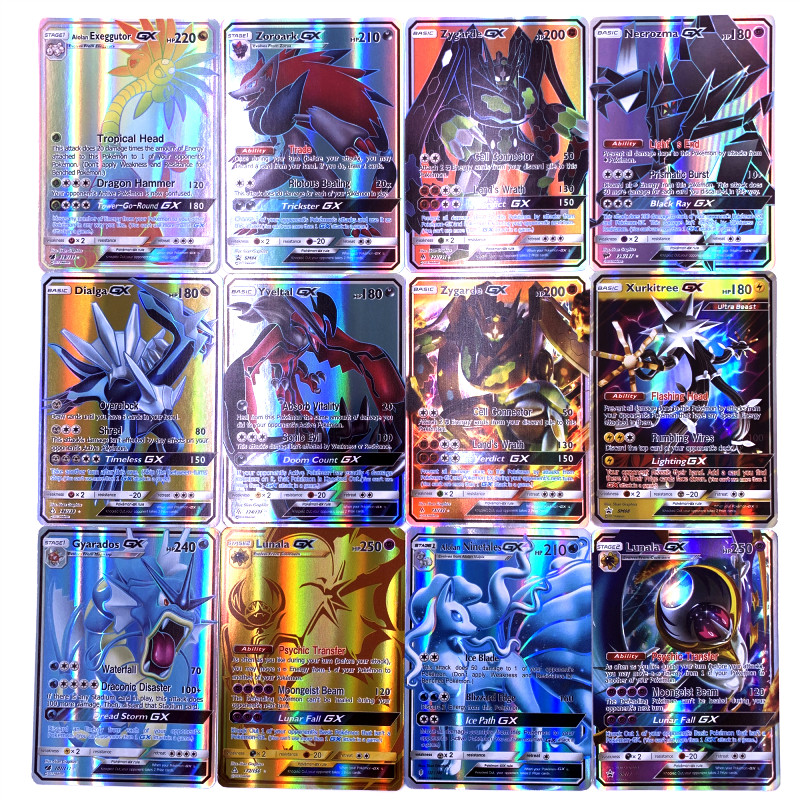 25 50 100 200 Pcs GX MEGA Shining Cards Game Battle Trading Cards Game Children Pokemons Cards Toy