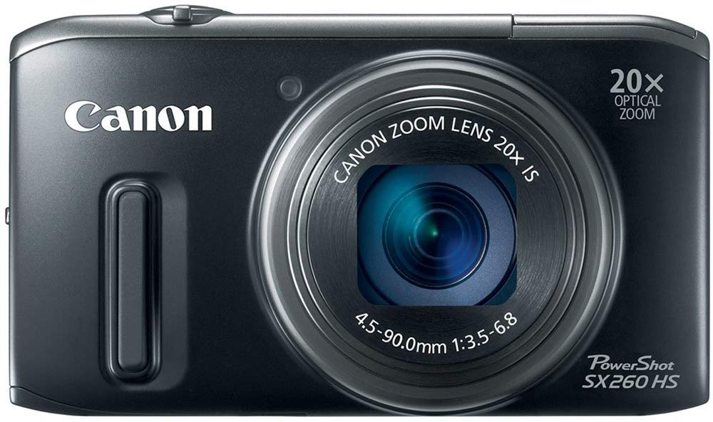 Canon Digital-Camera Powershot Stabilized Zoom Full-Hd 1080p MP SX260 HS CMOS with 20x
