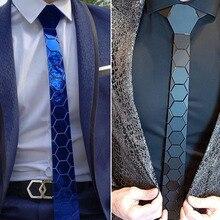 4 цвета зеркальный акриловый мужской тонкий синий галстук-бабочка глянцевый шестигранный клетчатый блестящий красный галстук Шелковый для свадебной вечеринки бизнес подарок