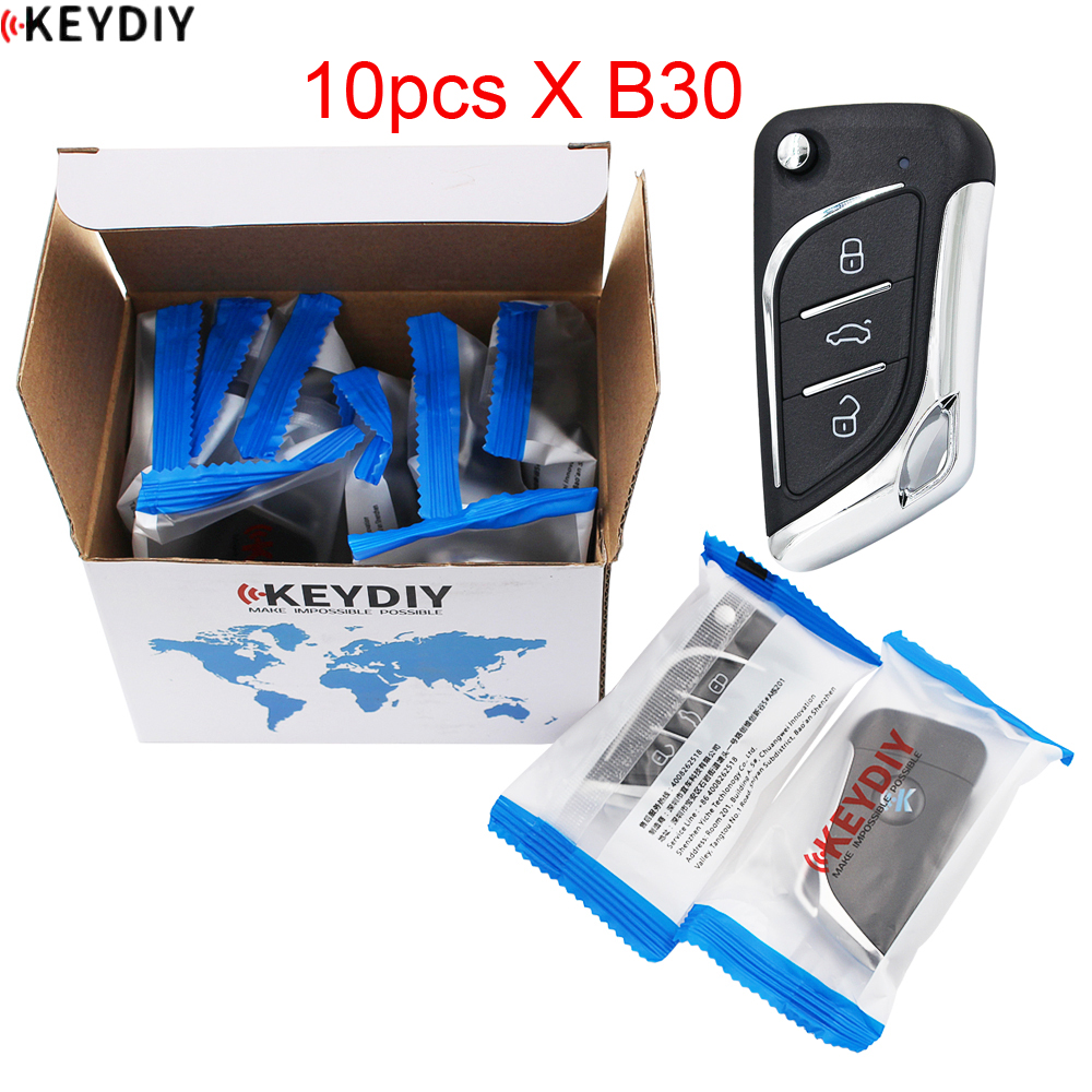 10 шт./лот, KEYDIY оригинальный KD900K/D900 +/URG200/KD-X2 программист серии B дистанционное управление B30 для автомобильного ключа