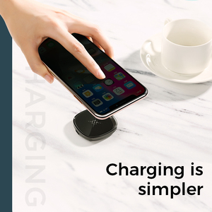 Image 2 - Joyroom 10W Fast LED Wireless Charger For Samsung Galaxy S7 S6 EDGE S8 S9 S10 Plus Usb cable For iPhone 8 x 11 portable charger