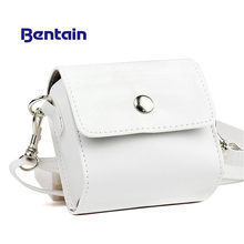 1pc Fashion PU Leather White Bag Case for PAPERANG Printer Photo Printer Portable Camera Bag Travel Accessories Фото рюкзак(China)
