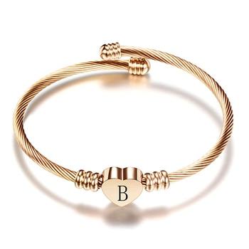 Βραχιόλι με γράμματα Bangle Βραχιόλια Κοσμήματα Αξεσουάρ MSOW