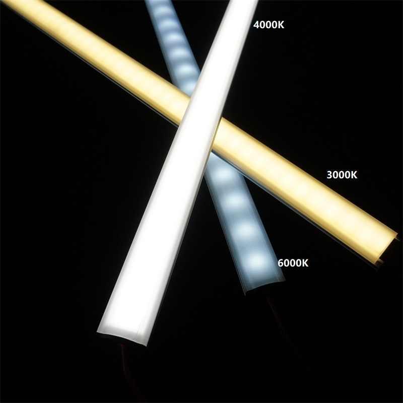 12VDC 50cm 20 pouces lumière de barre de led, diode invisible profil plat 2835 2W 6W 9W led bande, 5.5mm mince bande dure rigide lumière linéaire
