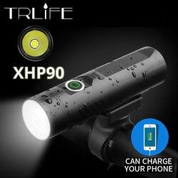 Мощный велосипедный светильник P90 P50 L2 мощностью 3200 мА/ч, светодиодный светильник для велосипеда T6, светильник с зарядным аккумулятором USB, в...