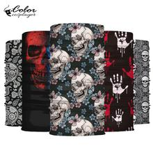 Color Cosplayer Carnival Cosplay Scarf Skull Series Windproof Neck Warmer Headband Scarves Wraps Bandanas Tube Headwear