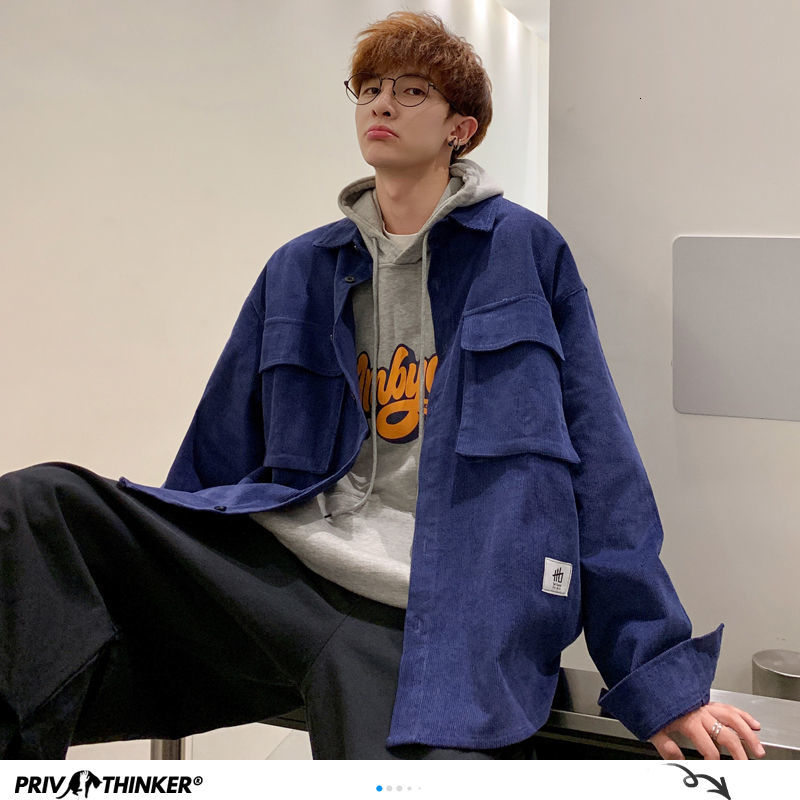 Privathinker Korean Autumn Men Jackets Harajuku Man Solid Color Casual Coats Streetwear Men's Jacket Coat Overzied Male Clothes