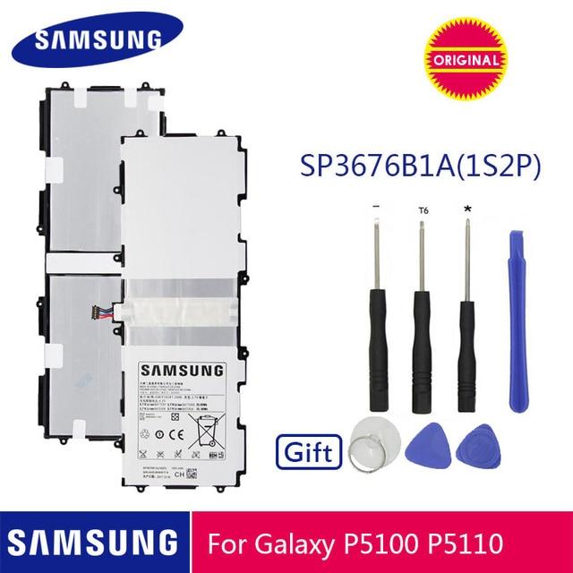 SAMSUNG Original Battery SP3676B1A 7000mAh For Samsung Galaxy Tab 10.1 N8020 GTN8013 P7510 P7500 P5110 P5100 N8000 N8010 P5113