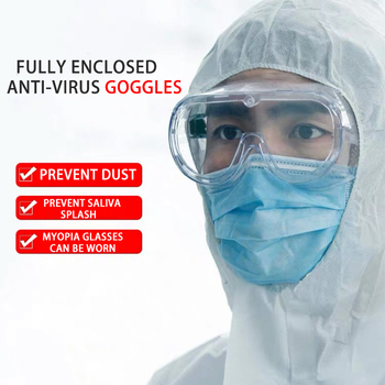 Lue's House Fully Enclosed Goggles Dustproof Safety Clear Glasses