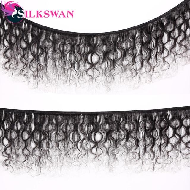 Mechones de pelo de seda con mechones de 8-32 pulgadas con cierre, extensiones de pelo Remy brasileño de doble trama