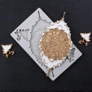 Свадебные рельефные кружева Decora формы украшения для торта из мягкой помады инструмент силиконовая форма сахарный шоколадный инструмент дл...