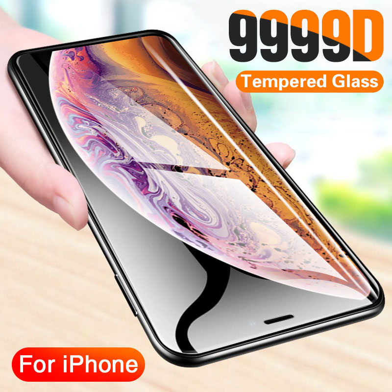 Full Cover Curved Tempered Glass On For Iphone 11 Pro X Xr Xs Max Screen Protector Protective Glass Iphone SE 2020 7 8 Plus Film