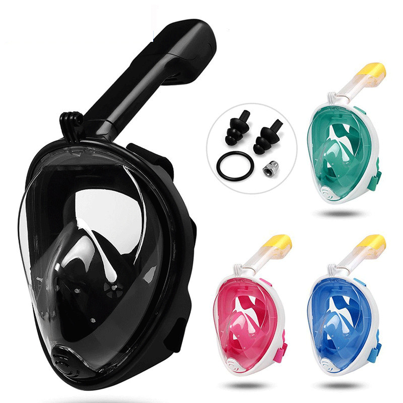 Full Face Scuba Snorkeling Mask Adults Kids Anti-fog Snorkeling Mask Underwater Diving Mask Swimming Anti Fog Snorkel Mask
