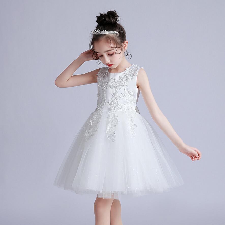 Vestido Infantil Kids Summer Princess Dress Girls Performance Costumes Children Birthday Party School Party Dresses 3-12yrs wear 10