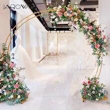 JAROWN yeni düğün çift yüzük tek kutuplu kemer yuvarlak düğün dekorasyon çiçek standı ev parti arka plan dekoratif raf