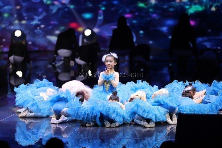 Г. Детское балетное платье Пушистый костюм платье принцессы платье для танцев с изображением маленького лебедя платье для выступлений для девочек, Costumeflower, платья для девочек