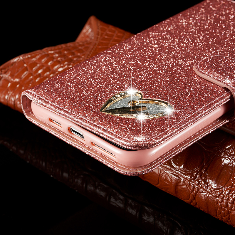 Bling Glitter Leather Case for iPhone 11/11 Pro/11 Pro Max 8