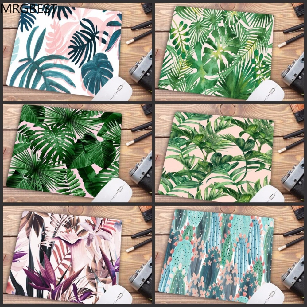 MRGBEST Big Promotion Russia My Favorite Banana Tree Green Leaves Mouse Pad Anime PC Computer Mat Natural Rubber Gaming Mousepad