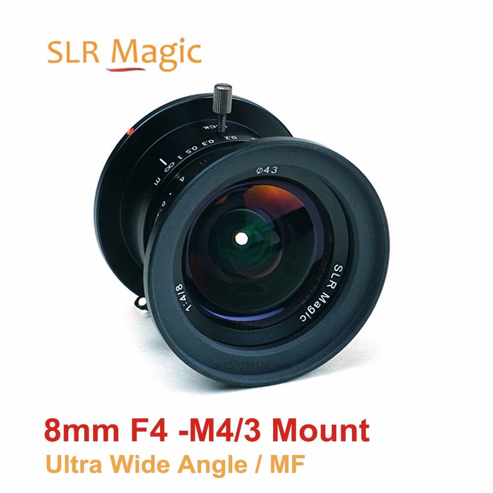 Объектив SLR Magic 8 мм f/4,0 фиксированный основной объектив с ручной фокусировкой ультра широкоугольный объектив для камеры M4/3 крепление для ка...
