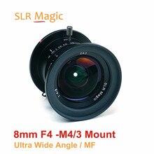 SLR Magie 8mm f/4,0 Feste Prime Objektiv Manueller Fokus Ultra Weitwinkel Kamera objektiv für M4/3 montieren Kameras Panasonic Olympus