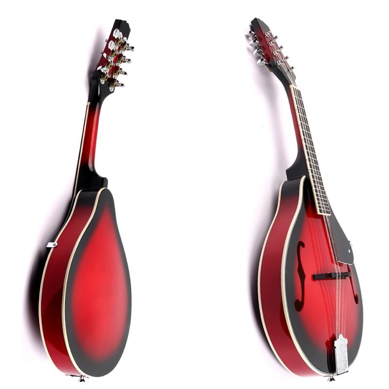 8 String Tiglio Sprazzo di Sole Mandolino Strumento Musicale con Corda di Acciaio in Legno di Palissandro Mandolino Strumento a Corde Ponte Regolabile - 6