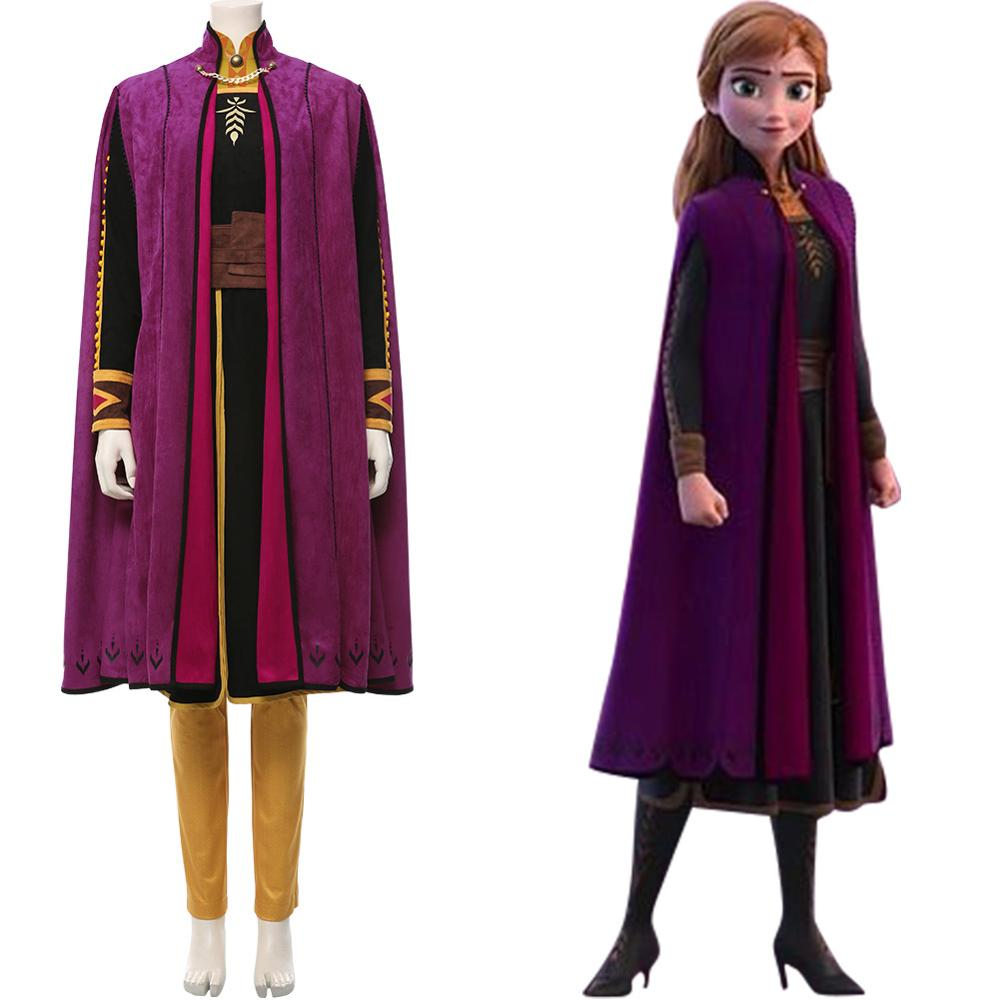 Anna Costume Olaf's Adventure Cosplay Anna Princess Dress Adult Halloween Carnival Costume Snow Queen Uniform Gown Custom 1
