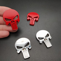 sticker motorcycle accessories 2 PCS Waterproof 3D Metal Emblem Badge Decal Sticker Punisher Skull Car Motorcycle Decoration Art Styling Tools Accessories (3)