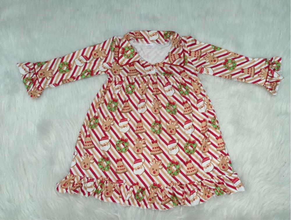 Santa print Christmas pajamas children clothes girls in Clothing Sets from Mother Kids