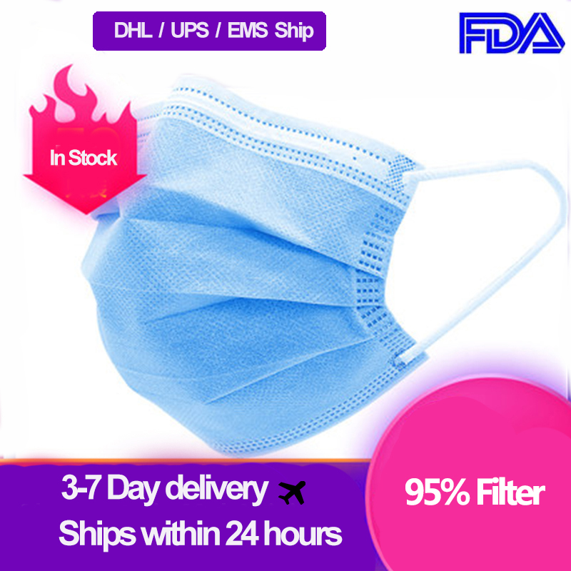 DHL/ UPS Deliver Masks Disposable Mask   Bacterial   Meltblown ClothMask Flter Dust-proof Disposable Protective