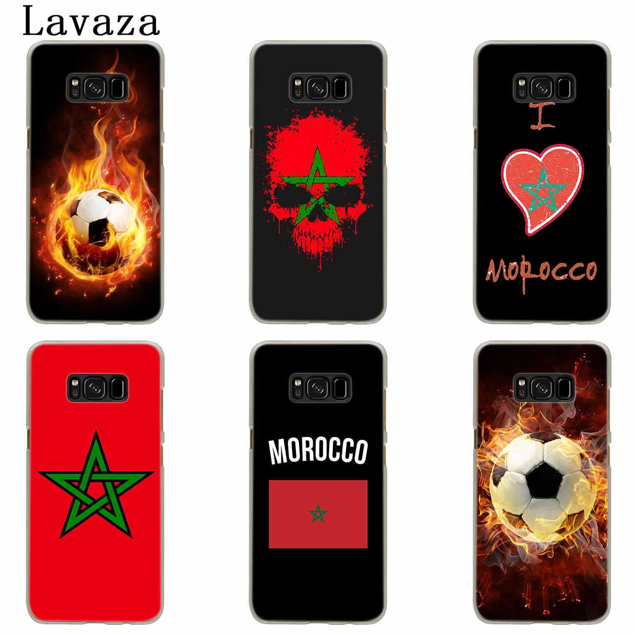 Lavaza מרוקו דגל כדורגל כדורגל טלפון מקרה לסמסונג גלקסי S20 Ultra S10 לייט S10E S6 S7 קצה S8 S9 בתוספת A51 A71 A81 A91