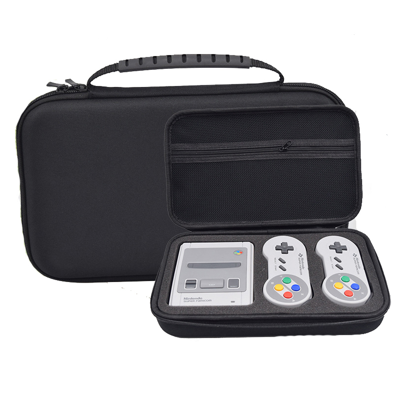 Game Case Bag for Nintend ForSNES ForSFC Classic Mini for 2 Controllers Charger HDMI Cable Cover Hard Pouch(China)