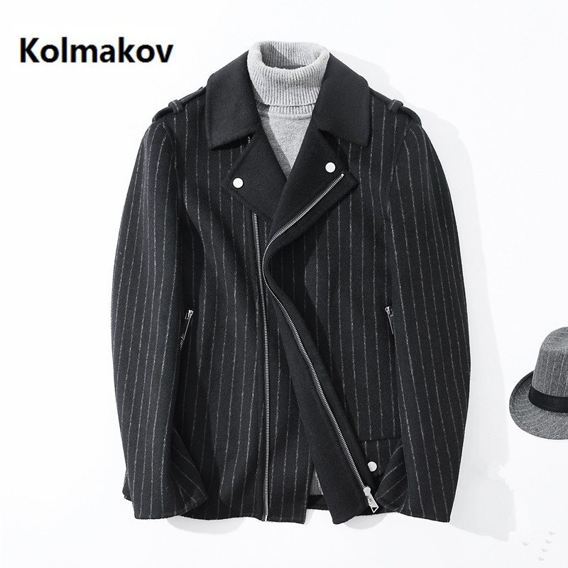 2020 Winter coat Men's cashmere trench coat Men's casual zipper jacket 100% Double-sided woolen coats men overcoat