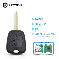 KEYYOU For Citroen Xsara Picasso Berlingo 2002 2003 2004 2005 2006 2007 2008 Remote Key 2 Button 433mhz ID46 Electronic Chip