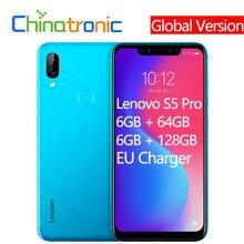 Smartphone lenovo s5 pro versão global, celular de 6 gb + 64 gb, 4 gb de fdd lte 6.2