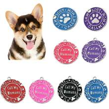 Call My Mom/Humans Paw Dog ID Name Pet Anti-Lost Collar Pendant Accessories(China)