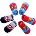 Новые детские носки «Дисней», 3 пары в комплекте нескользящие носки-тапочки «Микки Маус», «Человек-паук» Мягкие хлопковые носки с героями му...