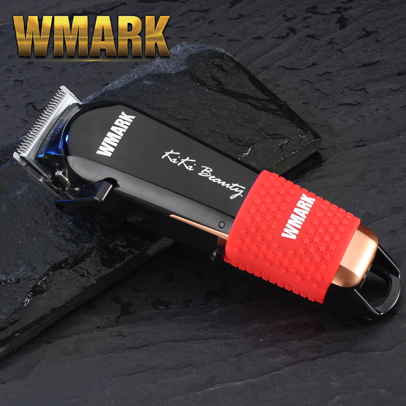 WMARK NG-103 Professional Cordless Hair Cutter Hair Trimmer 6500-7000 Rpm Hair Clipper Adjustable Cutting Lever 10W Power