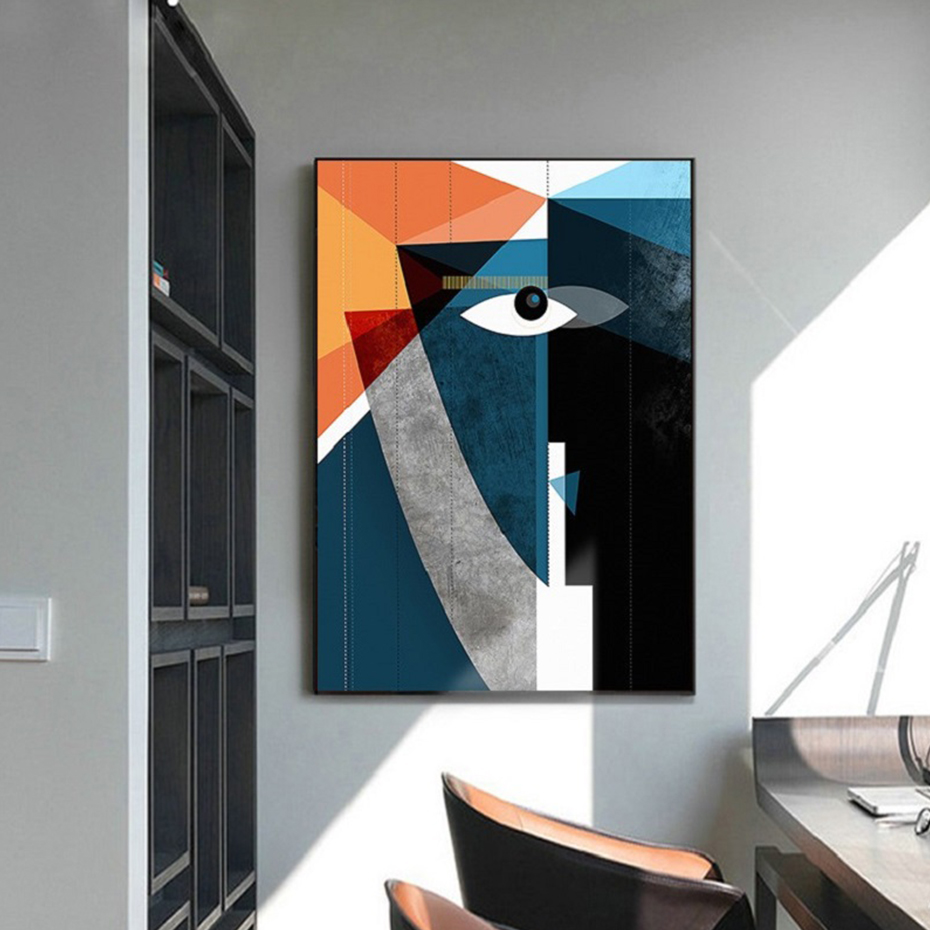 Modern Abstract Geometric Figure Face Wall Art Pictures Canvas Painting Posters Prints For Living Room Home Decoration