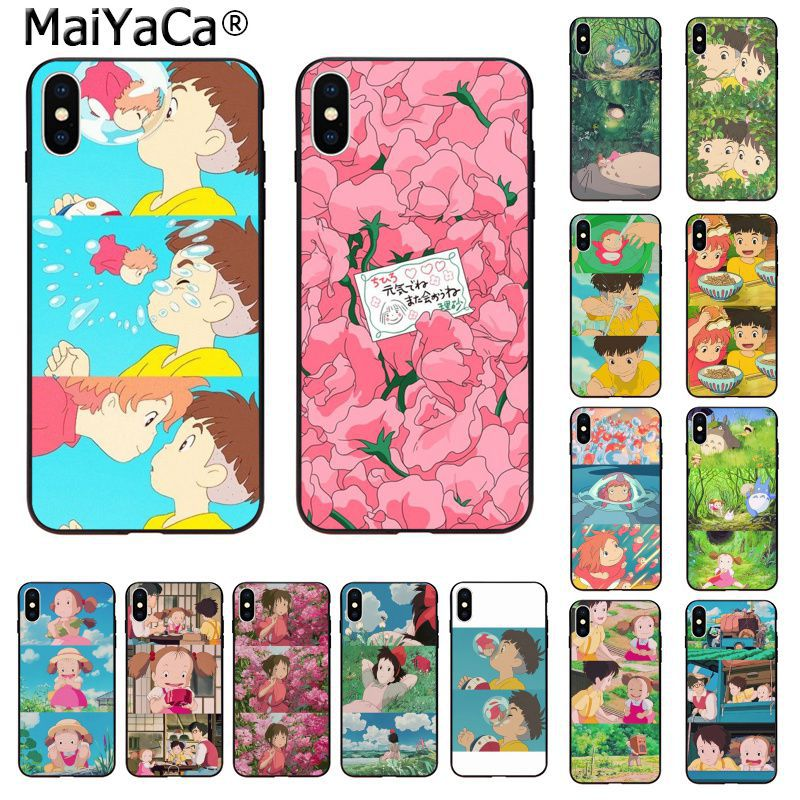 MaiYaCa Japan Anime Ponyo on the cliff princess Spirited Away Phone Case for Apple iPhone