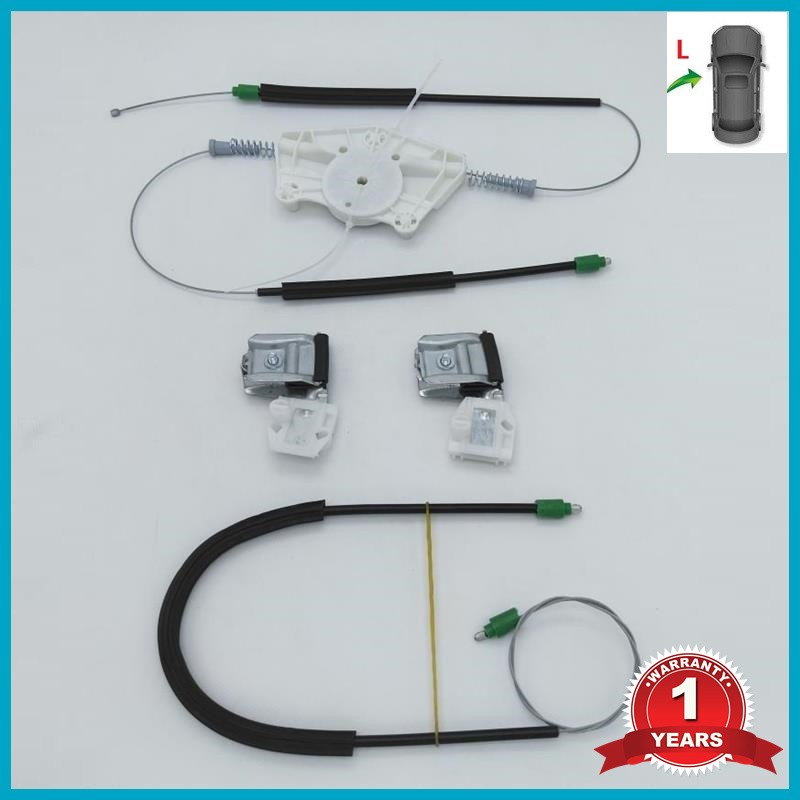 For Skoda Fabia MK1 2000 2001 2002 2003 2004 2005 2006 2007 2008 Car-style Electric Window Regulator Repair Kit Front Left Side
