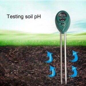 3 em 1 planta flores solo ph tester umidade medição medidor de luz umidade analisador hidroponia jardinagem detector higrômetro