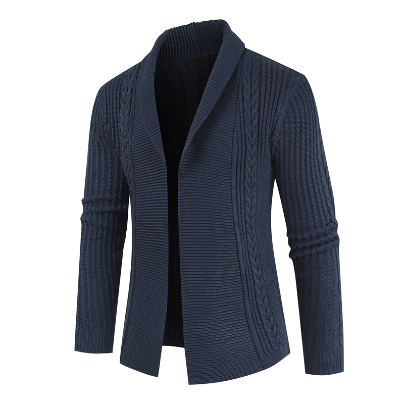 NEGIZBER 2019 Autumn Winter Cardigan Men Sweaters Solid Slim Fit Turn-down Collar Sweater Men Fashion Outwear Coat Men Sweater