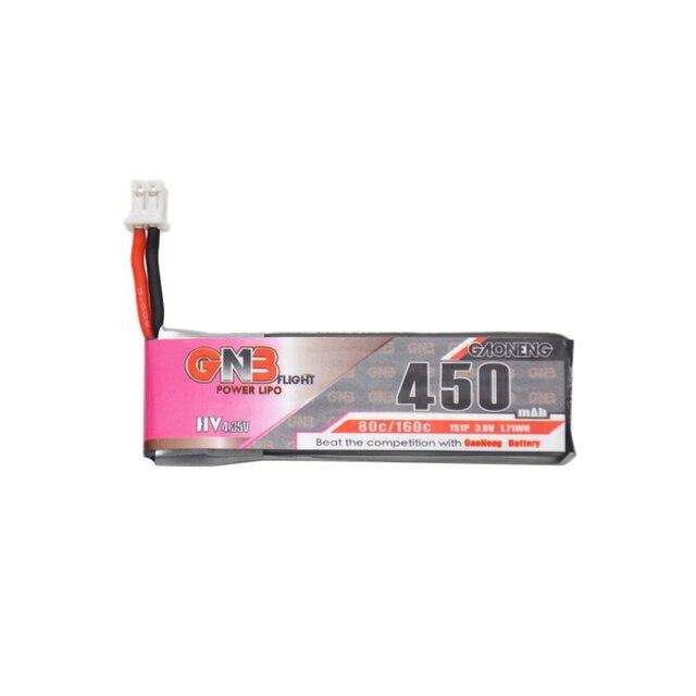 3PCS Gaoneng 450mah 1S 3 8V 80C 4 35V HV Lipo battery PH2 0 Plug for M80S TINY6 Tiny7 Beta75S Emax Tinyhawk Snapper7 RC Drone