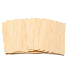 10Pcs Balsa Wood Sheets Wooden Plate 150*100*2mm For House Ship Craft Model DIY la salamandre 1752 model ship wood