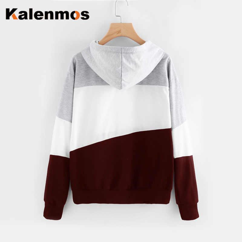 Streetwear Gestreepte Warme Truien Herfst Kleding Lange Mouw Lace Up Casual Trui Kpop Plus Size Sweatshirt Sport Outfit Vrouwen